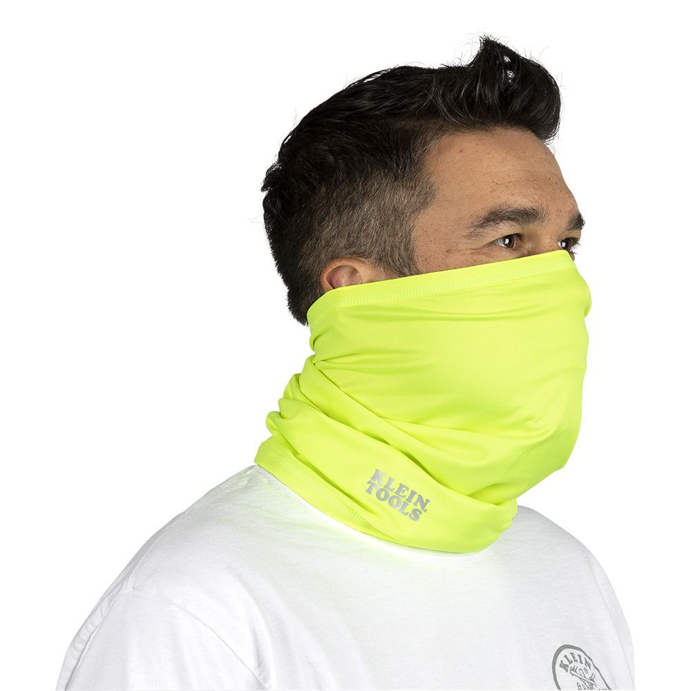 Neck and Face Cooling Band, High-Visibility Yellow
