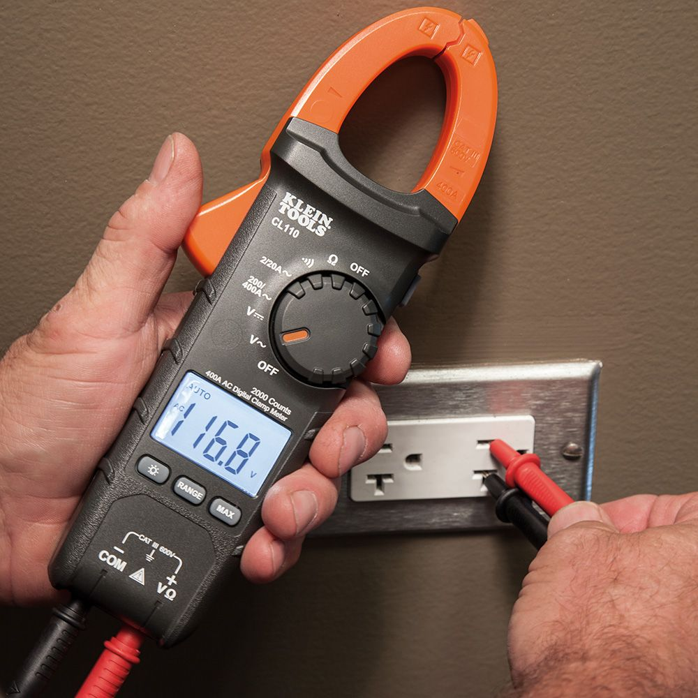 A Digital Clamp Meter 400 : Digital clamp meter ac auto ranging a cl