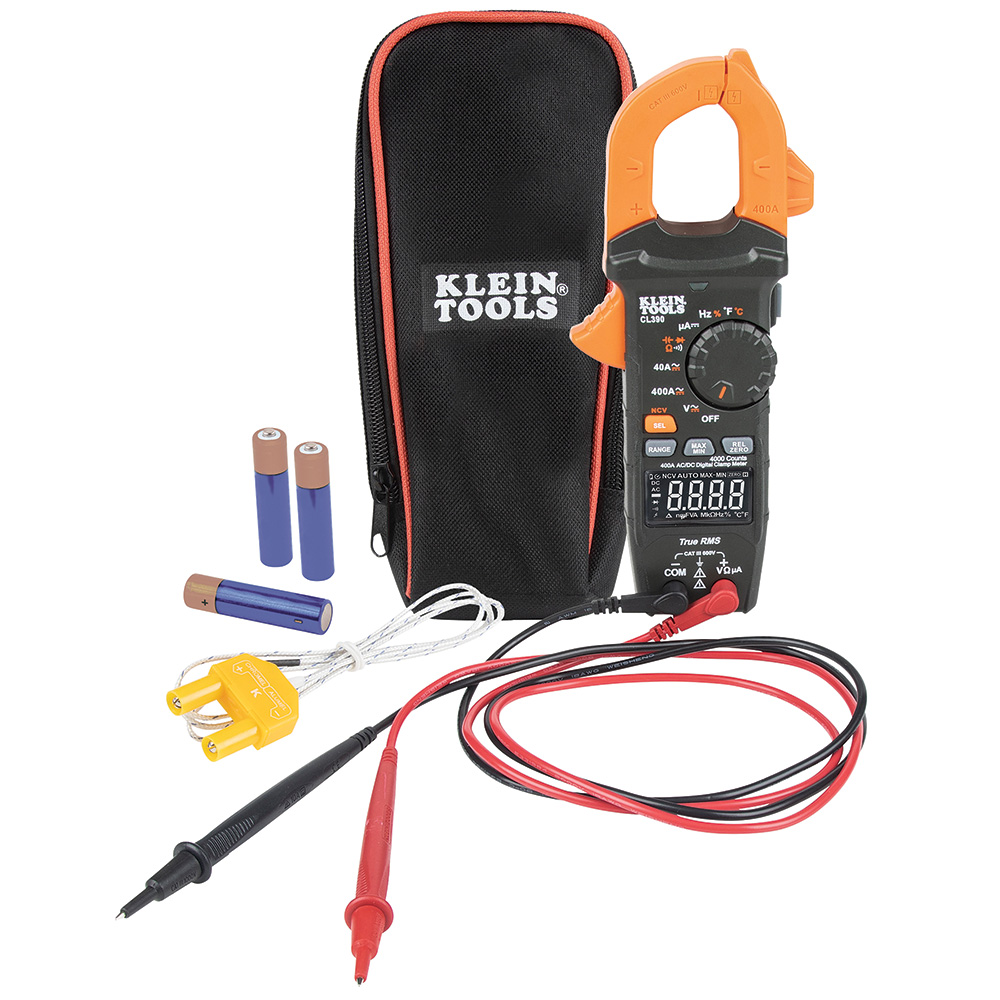 AC/DC Digital Clamp Meter, Auto-Ranging 400 Amp