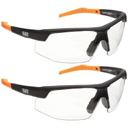 60171 Standard Safety Glasses, Clear Lens, 2-Pack