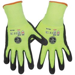 Work Gloves, Cut Level 4, Touchscreen, Large, 2-Pairs
