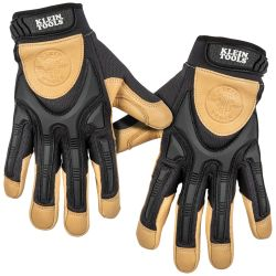 Leather Work Gloves, Large, Pair
