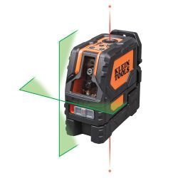 Laser Level, Self-Levelling Green Cross-Line and Red Plumb Spot