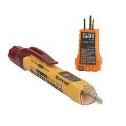 Dual Range Non-Contact Voltage Tester with Receptacle Tester